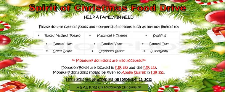 Spirit of Christmas Food Drive