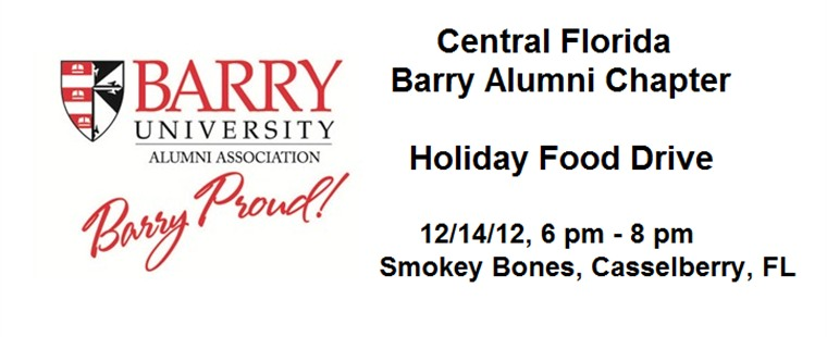 Central Florida Barry Alumni Chapter Holiday Food Drive