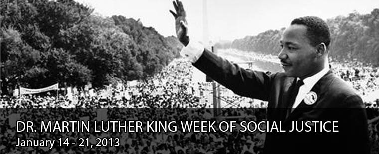 Save the Date: Dr. Martin Luther King Week of Social Justice