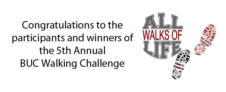 CRW announces BUC Walking Challenge winners