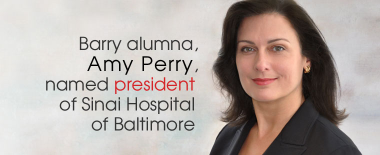 Barry alumna, Amy Perry, named president of Sinai Hospital of Baltimore