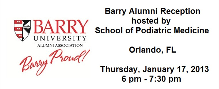 Barry Alumni Reception in Orlando hosted by the School of Podiatric Medicine