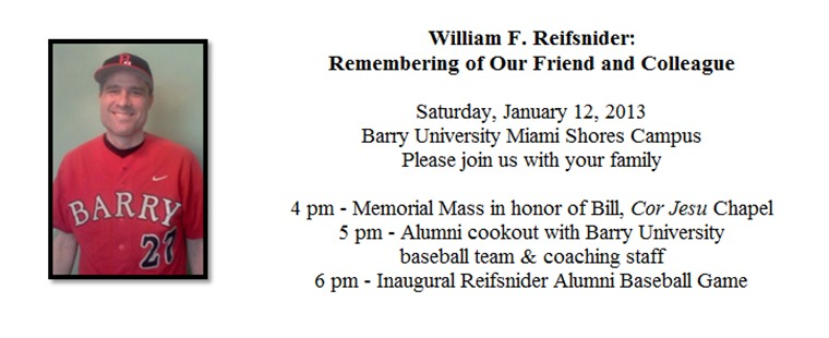 William F. Reifsnider: Remembering of Our Friend and Colleague