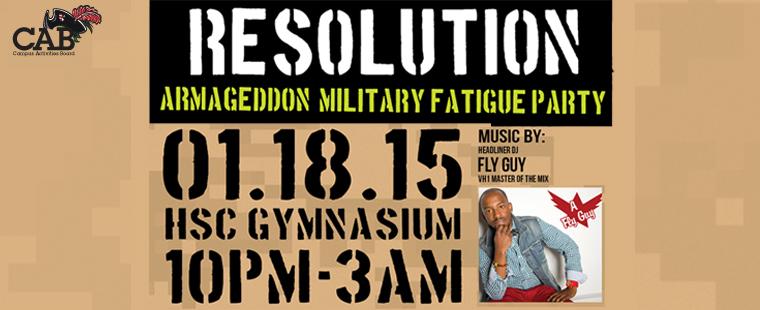 Resolution: Armageddon Military Fatigue Party