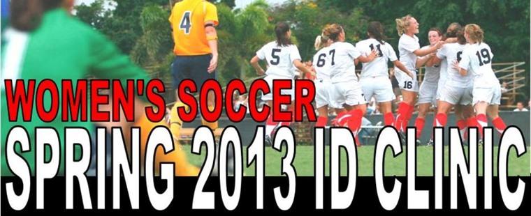 2013 Women's Soccer ID Clinic