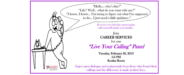 Live Your Calling panel