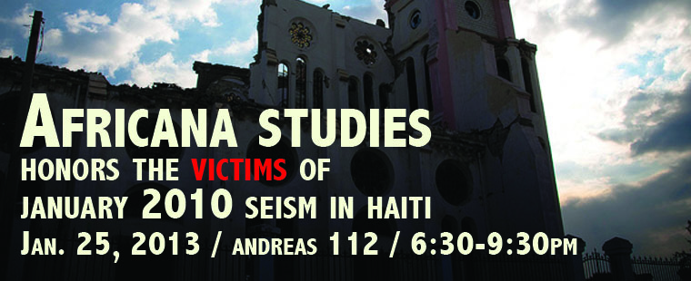 African Studies: Honors the Victims of 01/12/2010