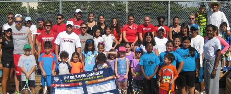 Tennis Teams Volunteer at Free Kids Festival