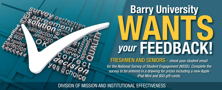 Barry University Wants Your Feedback!
