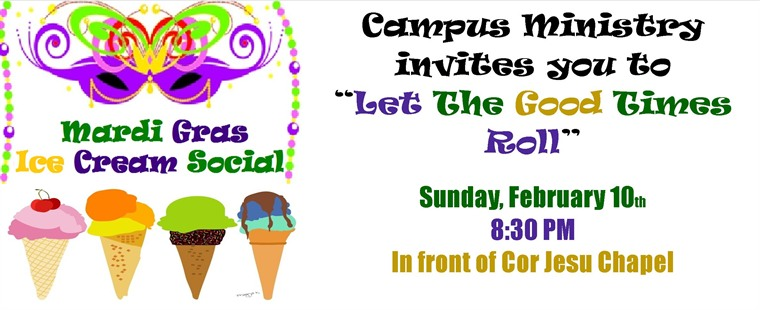 Mardi Gras Ice Cream Social