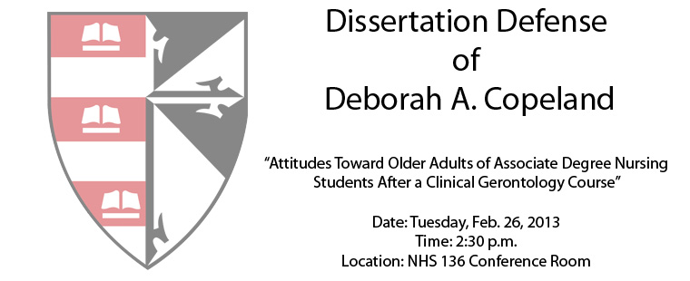 Dissertation Defense of Deborah A. Copeland