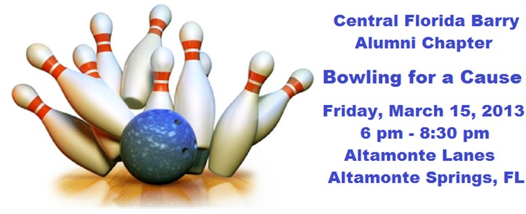 Central Florida Barry Alumni Chapter Bowling for a Cause