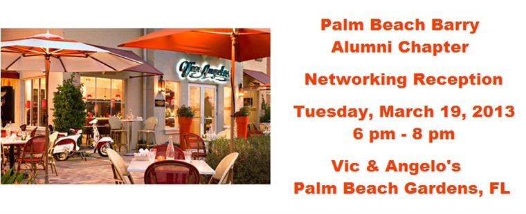 Palm Beach County Barry Alumni Chapter Reception