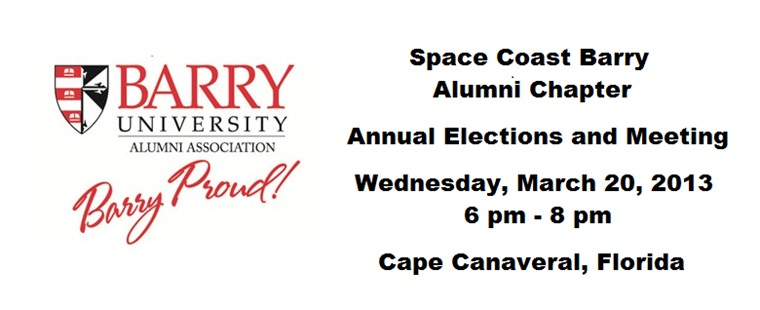Space Coast Barry Alumni Chapter Elections
