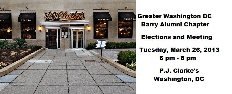 Greater Washington DC Barry Alumni Chapter Elections