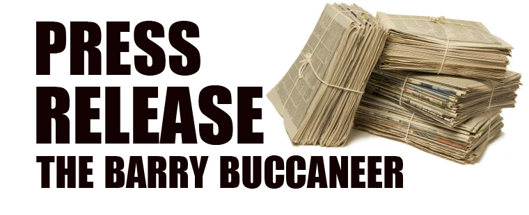 Press Release--The Barry Buccaneer