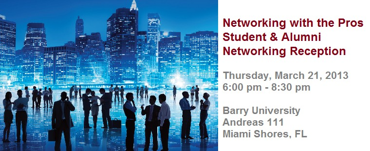 Networking with the Pros: Alumni and Student Networking Reception