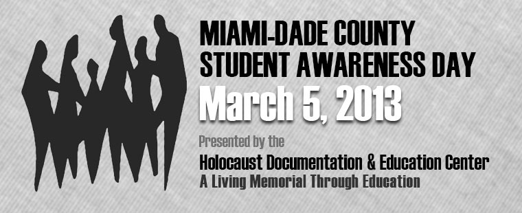 Holocaust Documentation & Education Center presents Student Awareness Day at Barry University