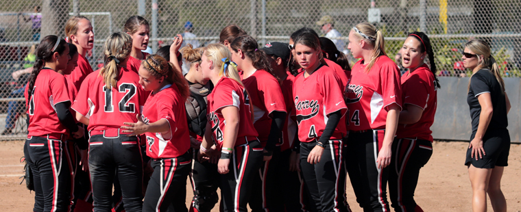Softball Beaten Twice By Saints