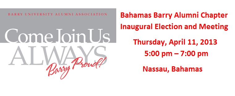 Inaugural Bahamas Barry Alumni Chapter Election