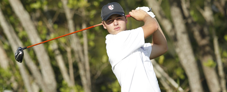 No. 1-Ranked Men's Golf Tied for 2nd at Kinderlou
