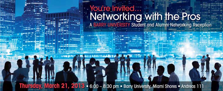 Networking with the Pros: A Student & Alumni Networking Reception