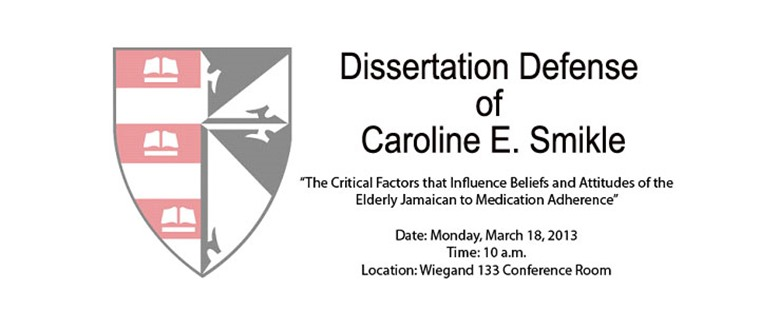Dissertation Defense of Caroline E. Smikle