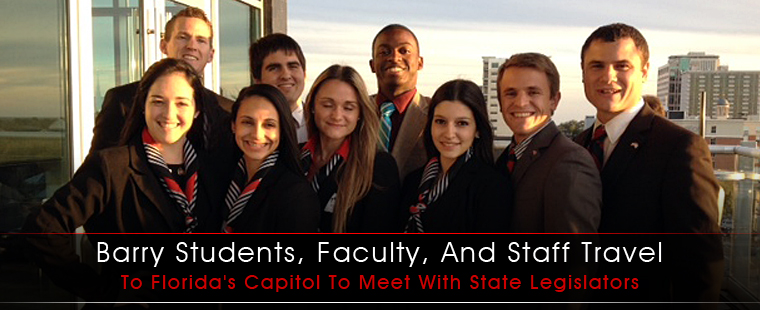 Barry students, faculty, and staff travel to Florida's capitol to meet with state legislators