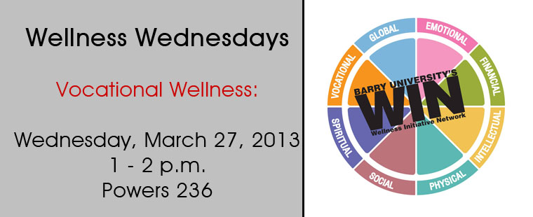 Wellness Wednesdays - Vocational Wellness