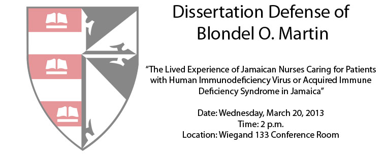Dissertation Defense of Blondel O. Martin