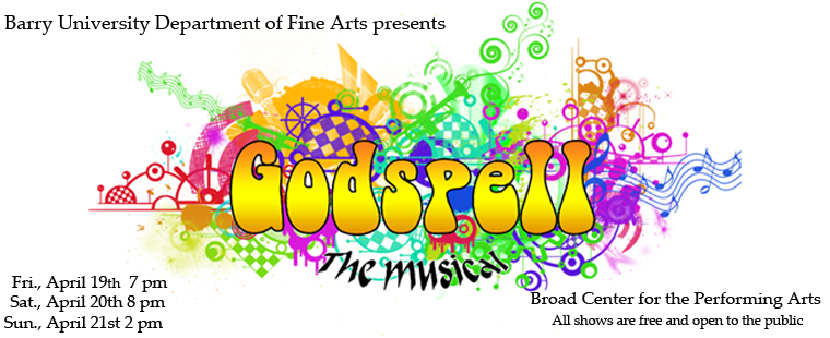 Barry University Department of Fine Arts presents Godspell the Musical