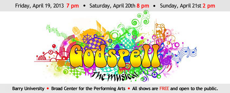 Barry University Department of Fine Arts presents Godspell