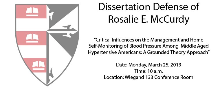Dissertation Defense of Rosalie E. McCurdy