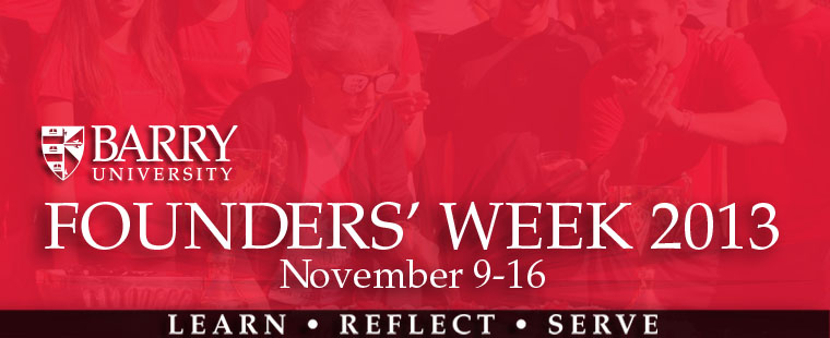Founders' Week 2013 - Save the Date