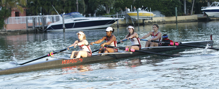 Rowing Hosts Barry-Nova Dual Saturday in Miami Beach