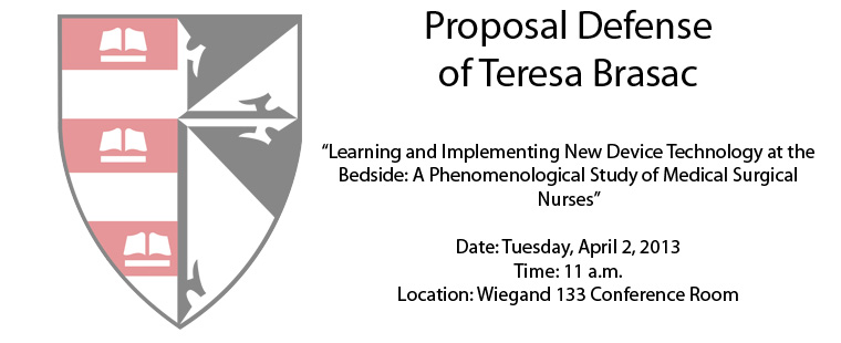 Proposal Defense of Teresa Brasac