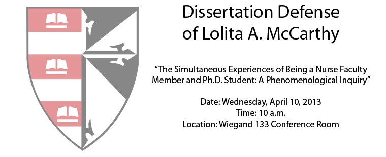 Dissertation Defense of Lolita A. McCarthy
