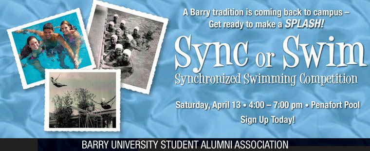 Sync or Swim Synchronized Swimming Competition