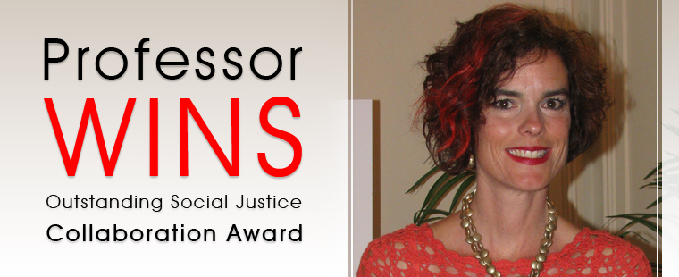 Professor wins Outstanding Social Justice Collaboration Award