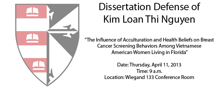 Dissertation Defense of Kim Loan Thi Nguyen