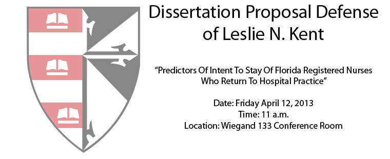 Dissertation Proposal Defense of Leslie N. Kent