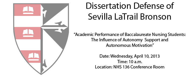 Dissertation Defense of Sevilla LaTrail Bronson