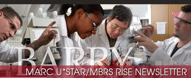 MARC U*STAR/MBRS RISE Spring 2013 Newsletter available