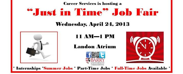 """Just in Time"" Job Fair"