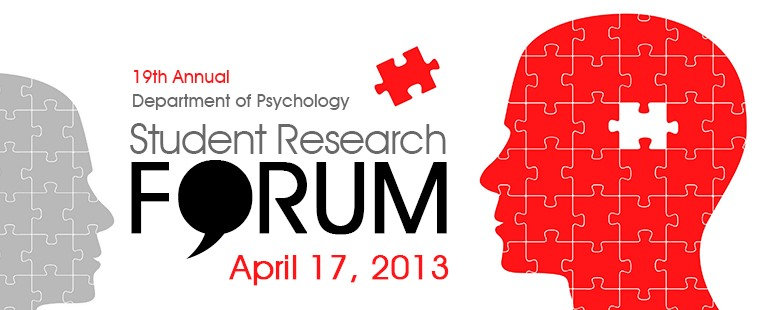 19TH Annual Department of Psychology Student Research Forum