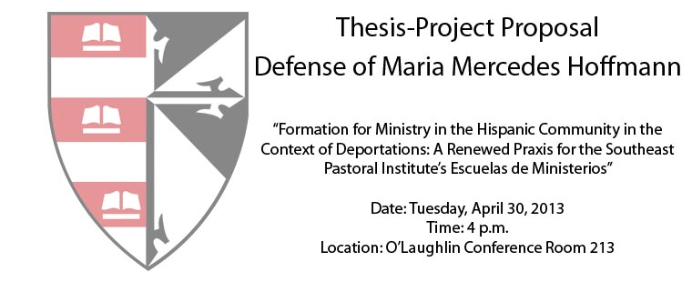 Doctor of Ministry Thesis-Project Proposal Defense of Maria Mercedes Hoffmann.