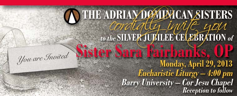 Silver Jubilee Celebration of Sister Sara Fairbanks, OP
