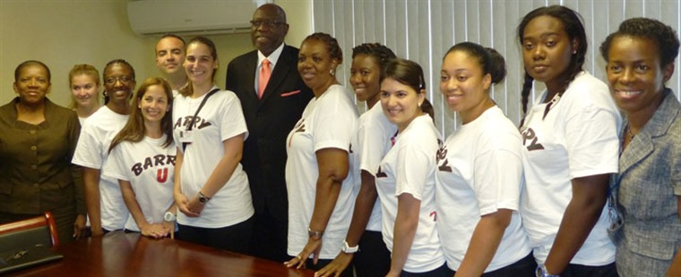 Senior nursing students meet Jamaican Minister of Health, Chief/Deputy Nursing Officers