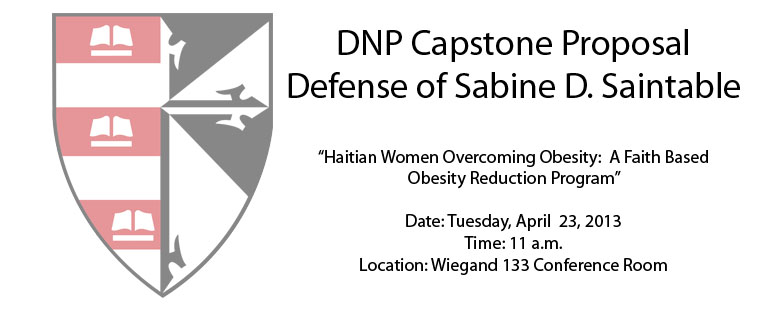 DNP Capstone Proposal Defense of Sabine D. Saintable