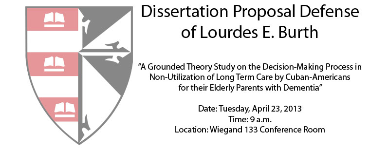 Dissertation Proposal Defense of Lourdes E. Burth